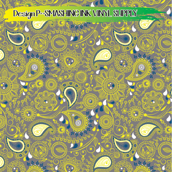 Whimsical Paisley - Pattern Vinyl (READY IN 3 BUS DAYS)