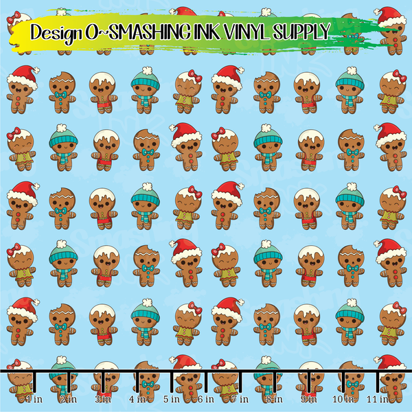 Gingerbread Cookies - Pattern Vinyl (SHIPS IN 3 BUS DAYS)