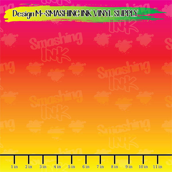Pink Yellow Orange Ombre - Pattern Vinyl (READY IN 3 BUS DAYS)