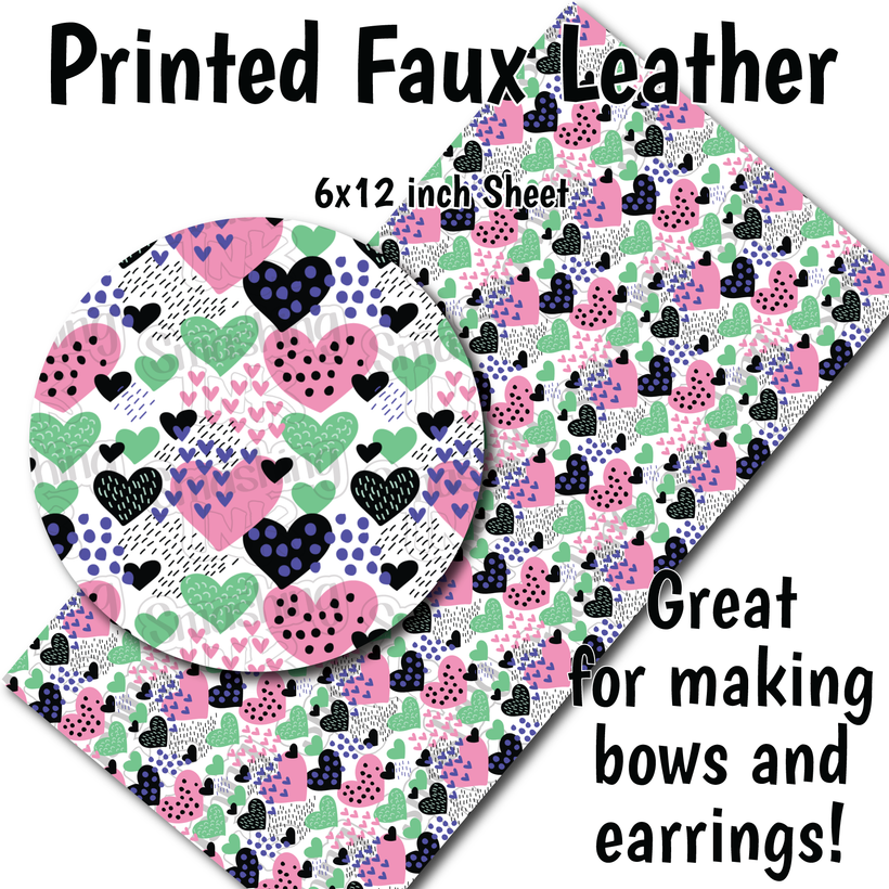 Valentine's Day Patterns - Faux Leather