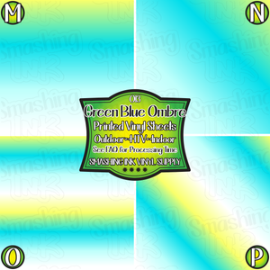 Green Blue Ombre - Pattern Vinyl (READY IN 3 BUS DAYS)