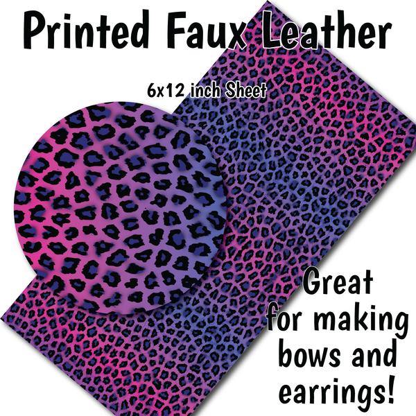 Leopard Ombre - Faux Leather Sheet (SHIPS IN 3 BUS DAYS)