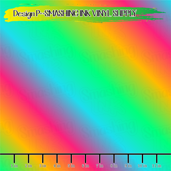 Rainbow Ombre - Pattern Vinyl (READY IN 3 BUS DAYS)