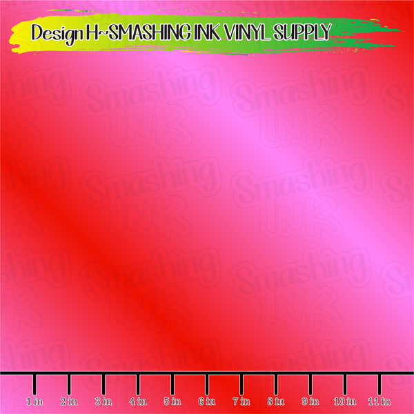 Pink Red Ombre  - Pattern Vinyl (READY IN 3 BUS DAYS)