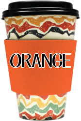 Blank Solid Color - Coffee Wraps Orange Blanks