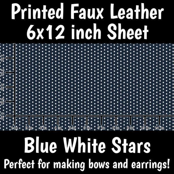 Stars - Faux Leather Sheet (SHIPS IN 3 BUS DAYS)