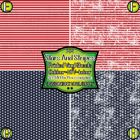 Small Scale Stars and Stripes - Pattern Vinyl (SHIPS IN 3 BUS DAYS)