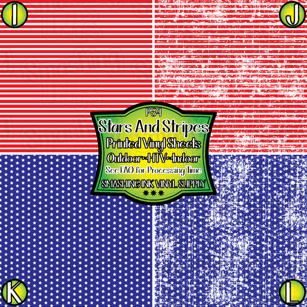 Small Scale Stars & Stripes - Pattern Vinyl (READY IN 3 BUS DAYS)