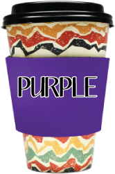 Blank Solid Color - Coffee Wraps Purple Blanks