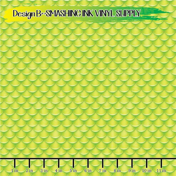 Yellow Mermaid Scales- Pattern Vinyl (READY IN 3 BUS DAYS)