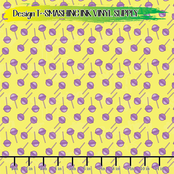 Purple Lollipops - Pattern Vinyl (SHIPS IN 3 BUS DAYS)