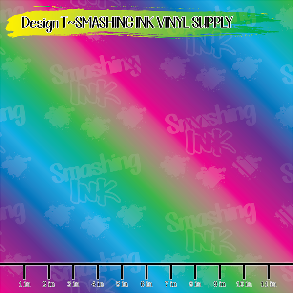 GREEN-PINK OMBRE - Pattern Vinyl (READY IN 3 BUS DAYS)