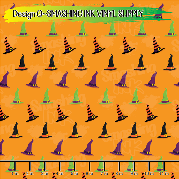 Witch Hats - Pattern Vinyl (READY IN 3 BUS DAYS)