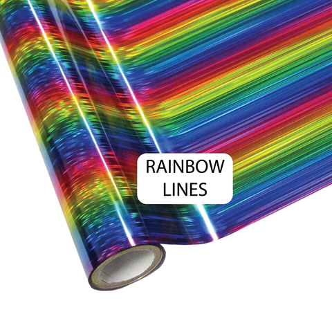 RAINBOW LINES- Heat Transfer Foil