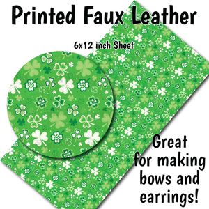 St. Patrick's Pattern - Faux Leather Sheet (SHIPS IN 3 BUS DAYS)