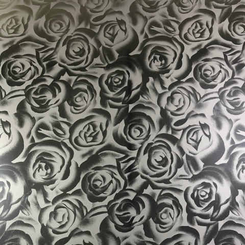 SILVER ROSES - Soft Metallic HTV