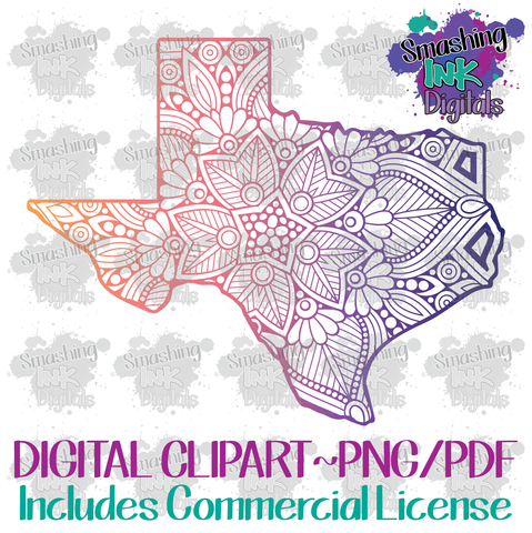 Texas Mandala - Printable Graphic