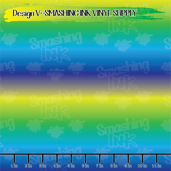 Yellow-Blue Ombre - Pattern Vinyl (SHIPS IN 3 BUS DAYS)