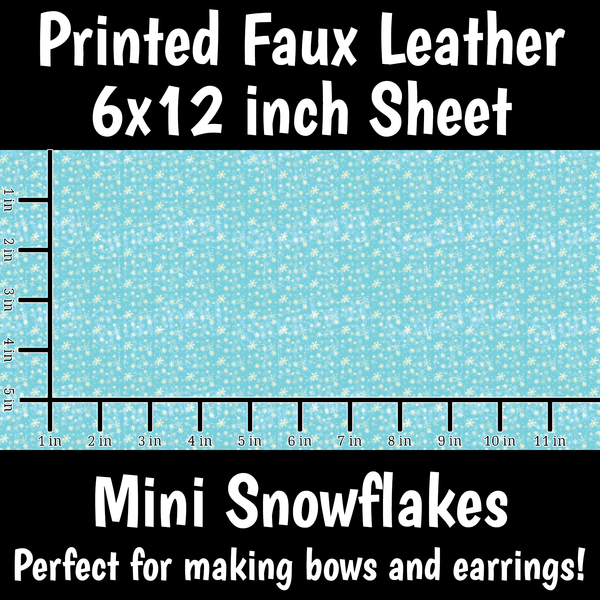Mini Snowflakes - Faux Leather Sheet (SHIPS IN 3 BUS DAYS)