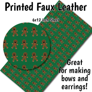 Christmas Pattern T - Faux Leather Sheet (SHIPS IN 3 BUS DAYS)