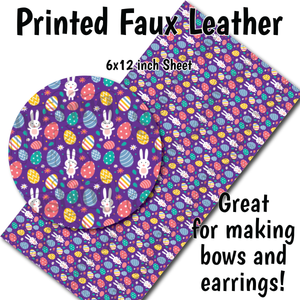 Easter Bunny Pattern - Faux Leather Sheet (SHIPS IN 3 BUS DAYS)