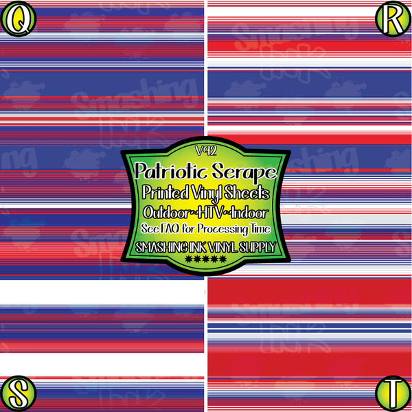 Patriotic Serape - Pattern Vinyl (READY IN 3 BUS DAYS)