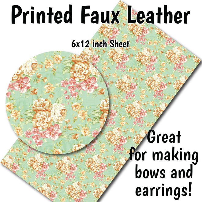 Floral Patterns - Faux Leather