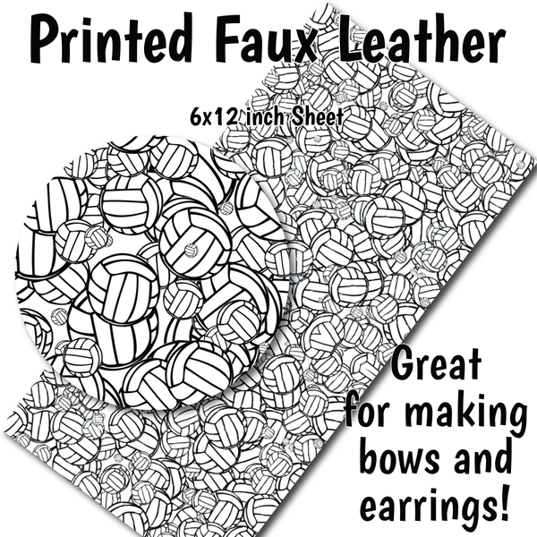 Volleyball - Faux Leather Sheet (SHIPS IN 3 BUS DAYS)