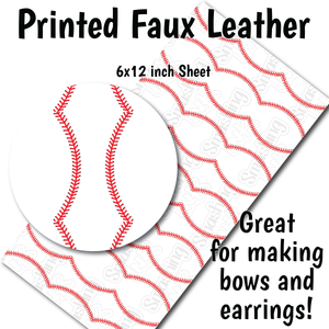 Baseball - Faux Leather Sheet (MTO-3 BUS DAYS)