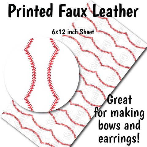 Baseball - Faux Leather Sheet (SHIPS IN 3 BUS DAYS)