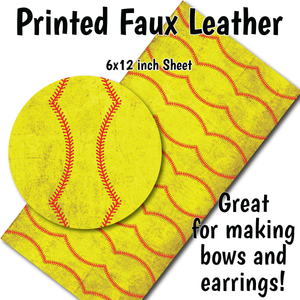 Dirty Softball - Faux Leather Sheet (SHIPS IN 3 BUS DAYS)