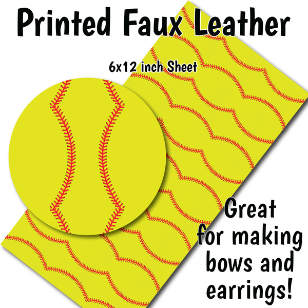 Softball - Faux Leather Sheet (SHIPS IN 3 BUS DAYS)