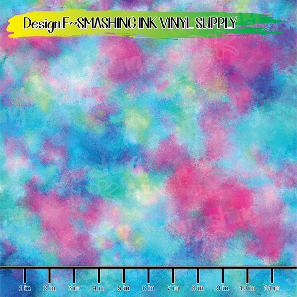 Colorful Watercolor - Pattern Vinyl (SHIPS IN 3 BUS DAYS)
