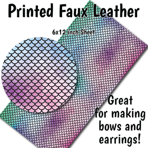 Mermaid Scales - Faux Leather Sheet (MTO-3 BUS DAYS)