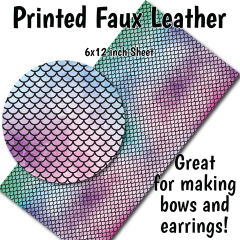 Mermaid Scales - Faux Leather Sheet (SHIPS IN 3 BUS DAYS)