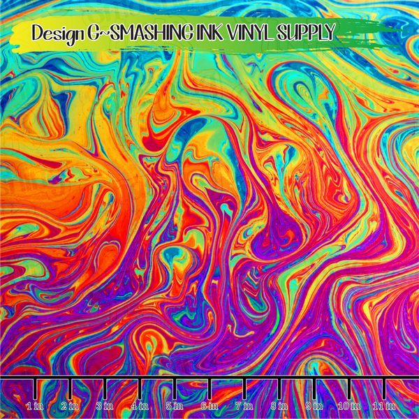 Colorful Swirls  - Pattern Vinyl (SHIPS IN 3 BUS DAYS)