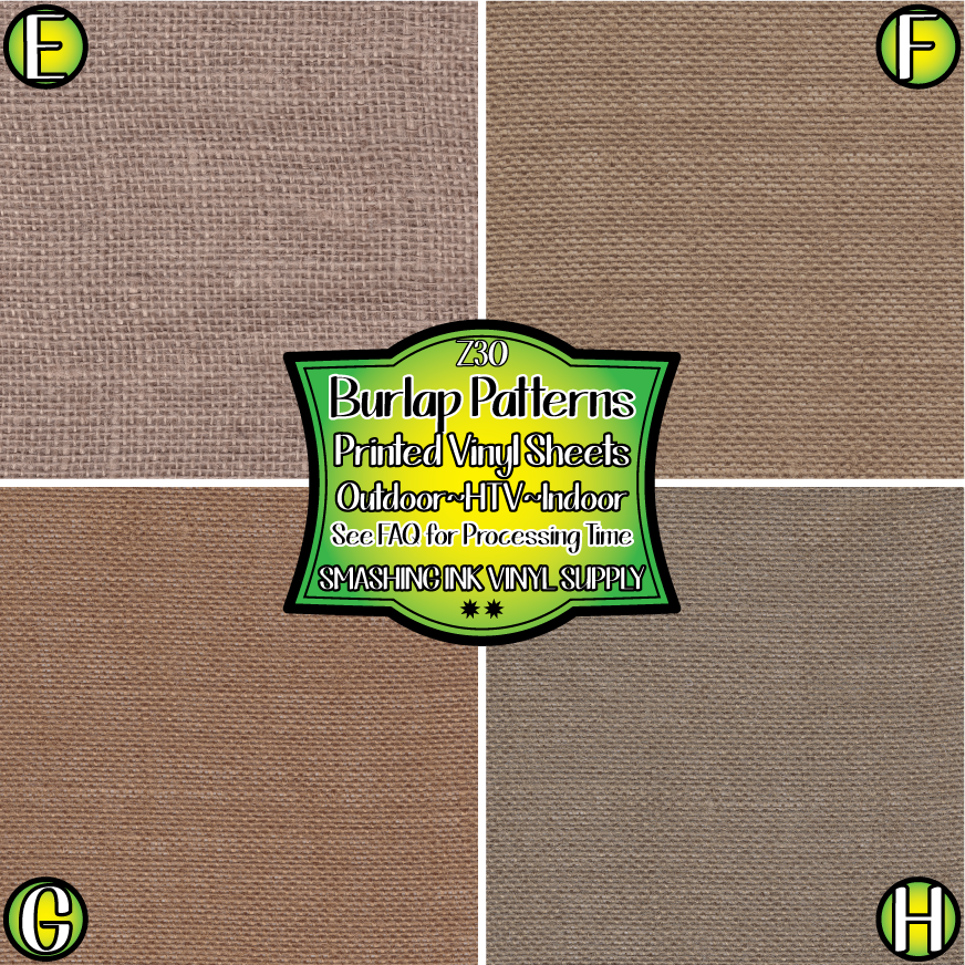 Burlap Texture - Pattern Vinyl (READY IN 3 BUS DAYS)