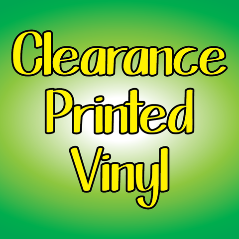 Printed Adhesive - Clearance Sheets Clearance
