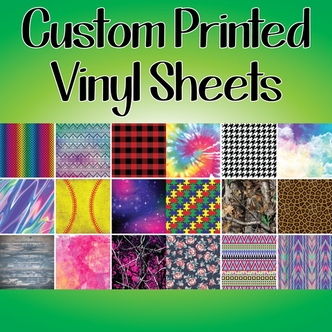 Custom Printed Vinyl Sheets - Available In Adhesive Or Heat Transfer Custom