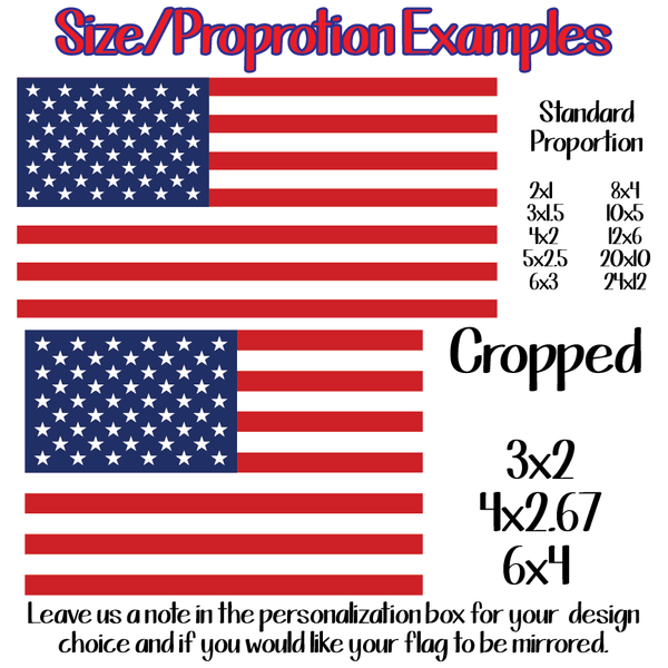 Printed American Flags - Full Color Adhesive Decals (SHIPS IN 3-7 BUS DAYS)