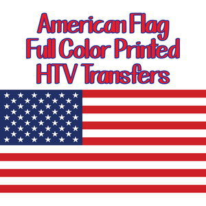 Printed American Flags - Heat Transfer Iron Ons Custom