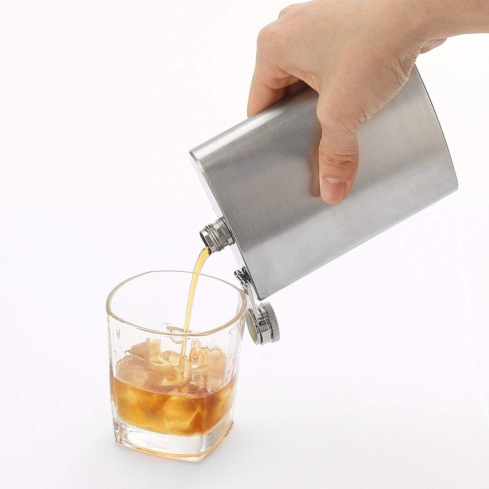 Stainless Steel Hip Flask - 8 oz