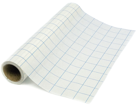 Grid-Lined Paper Transfer Tape (Blue) - 12X30 Ft Supplies