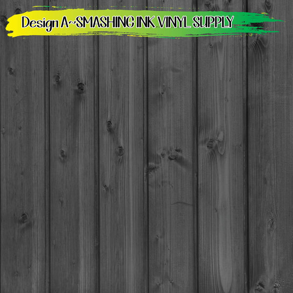 Dark Wood Pattern - Pattern Vinyl (READY IN 3 BUS DAYS)