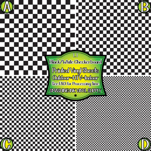 Black White Checker - Pattern Vinyl (READY IN 3 BUS DAYS)