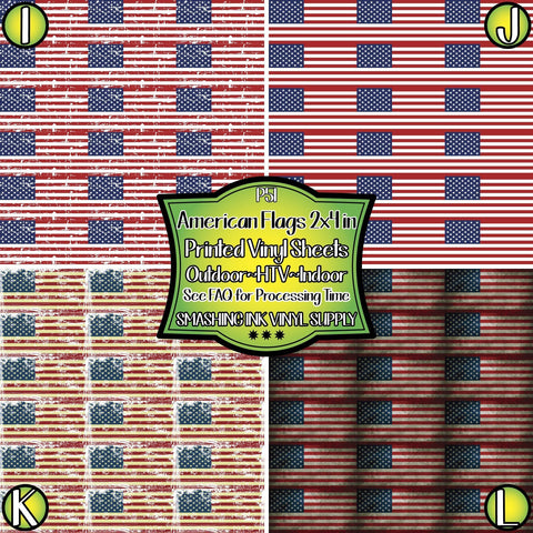 American Flag 2X4 In - Patterned Vinyl Done Printed