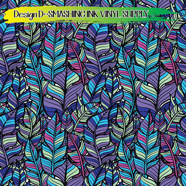 Colorful Feathers - Pattern Vinyl (READY IN 3 BUS DAYS)