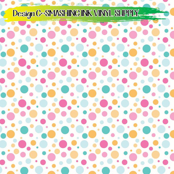 Colorful Polka Dots - Pattern Vinyl (SHIPS IN 3 BUS DAYS)