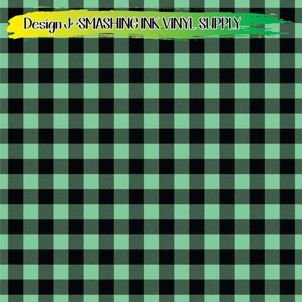 Mint Buffalo Plaid - Pattern Vinyl (READY IN 3 BUS DAYS)