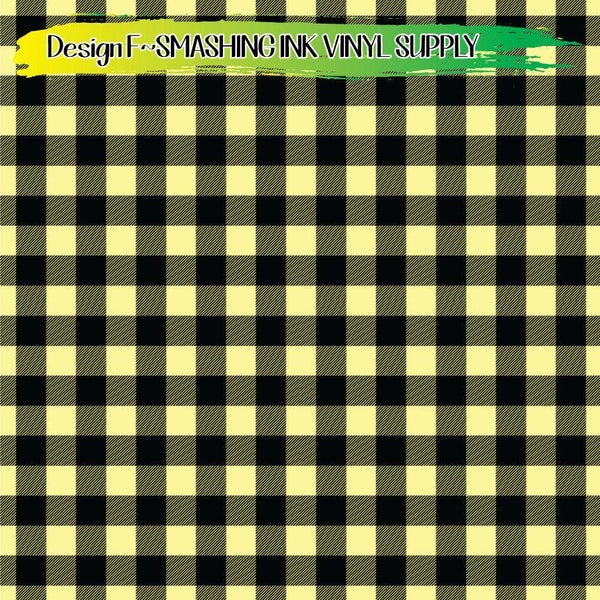 Cream Buffalo Plaid - Pattern Vinyl (READY IN 3 BUS DAYS)